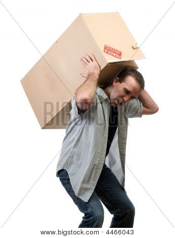 Man Lifting Heavy Box