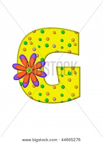 Alphabet Zany Dots G
