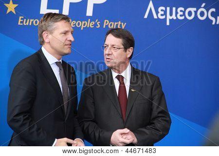 Sybrand van Haersma Buma and Nicos Anastasiades