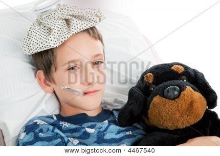 Little Boy Home Sick