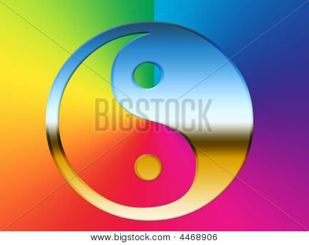 Rainbow Yin Yang