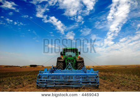 The Tractor Modern Farm Equipment