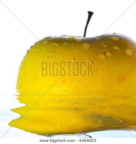 Drops On Yellow Apple