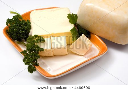 Butter On Plate
