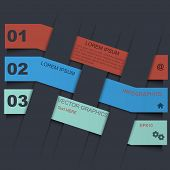 Infographic design template with paper tags. This is file of EPS10 format. poster