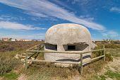 Sapnish civil war bunker a classic concrete pillbox poster
