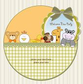 baby shower announcement, illustration in vector format poster