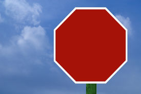 Blank Stop Sign