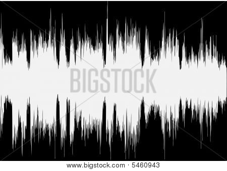 Vector Music Wave On Black Background