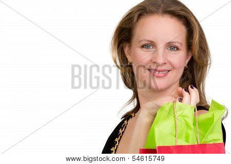 Shopper Lady Happily Done With Her Shopping