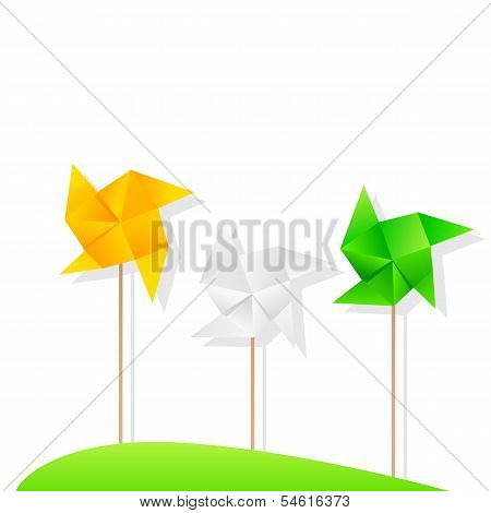 Indian Tricolor Windmills