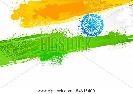 Grungy Indian Wallpaper with flag