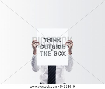 Poster With Think Outside The Box