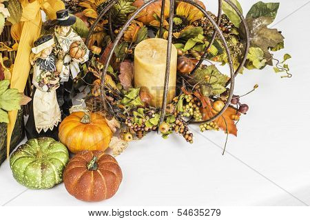 Thanksgiving And Fall Themed Arrangement