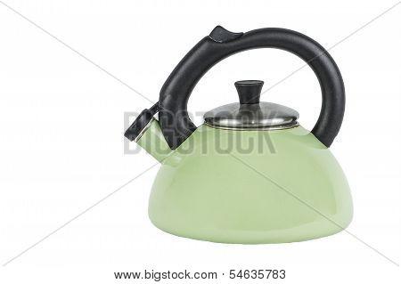 Green Tea Pot Kettle Isolated