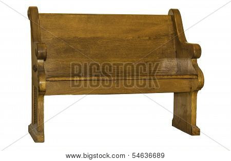 Church Pew Isolated