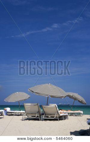 Shade From The Sun On South Beach