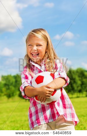 Laughing Girl With Ball