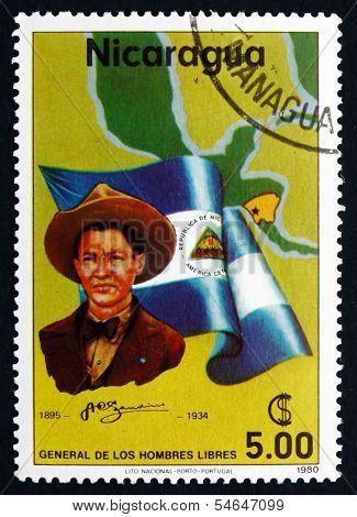 Postage Stamp Nicaragua 1980 Augusto Cesar Sandino, Revolutionar