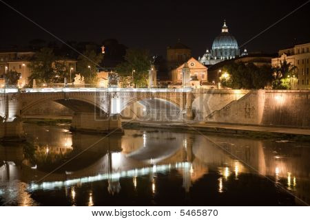 San Peter By Night With River