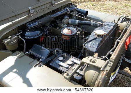 Engine Of World War Two Vehicle