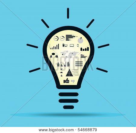 Infographic light bulb vector.