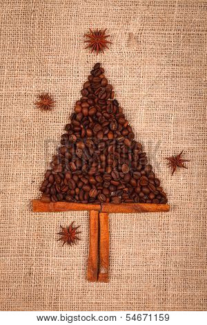 Small Tree Of Coffee Beans