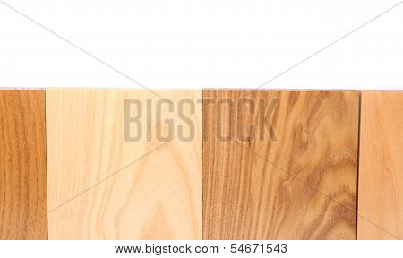 Top four boards (oak, eim, acacia, lime)