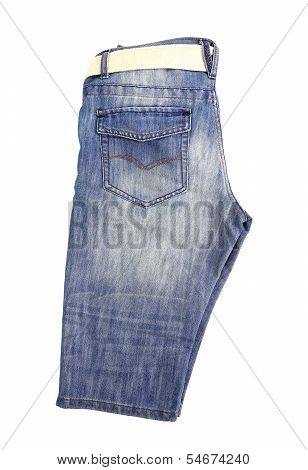 breeches jeans with belt isolated