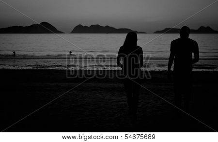 Couple in a beach