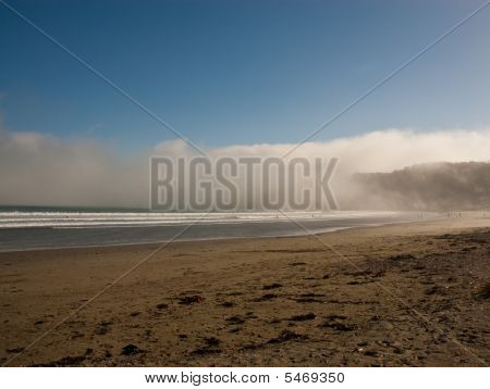 Fog Rolls In Over Beach