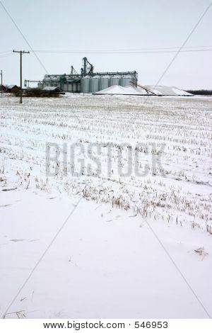 Elevator In Snow Field