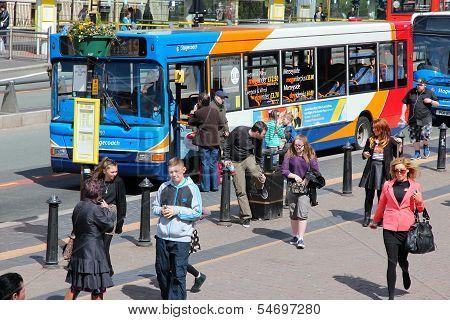 Public Bus In Liverpool