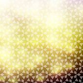 Elegant gold damask background, slightly grungy texture and light effects poster