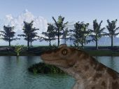 3 D Render of an Keratocephalus - 3D Dinosaur poster