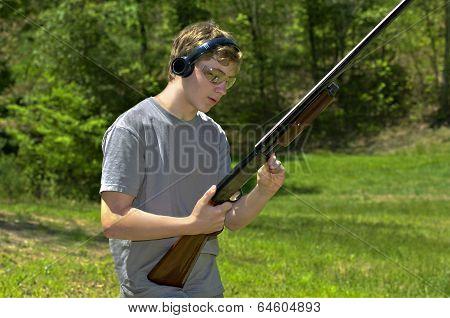 Boy With Shotgun
