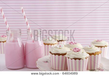 Pink Retro Theme Dessert Table Birthday Party