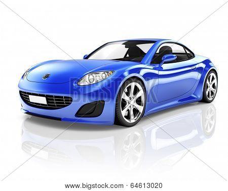 Sports 3D Car
