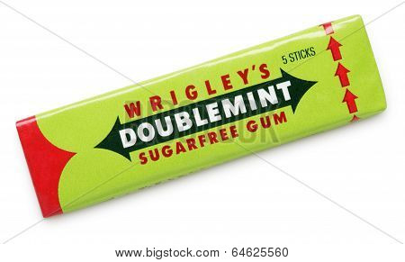 Wrigley's Doublemint Sugarfree Chewing Gum