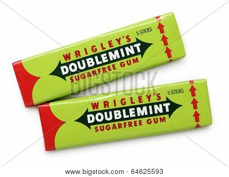 Wrigley's Doublemint Sugarfree Chewing Gums