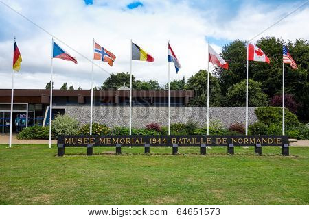 Omaha Beach, Normandy,Ferance.- August 9: Musee memorial in American War Cemetery on August 9, 2013. American War Cemetery at Omaha Beach, Normandy (Colleville sur Mer ) France.