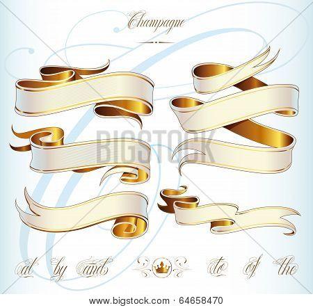 Gold Baner Set