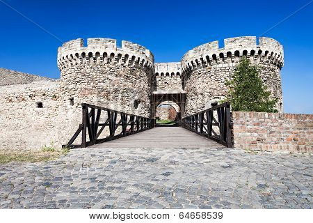 Entrance Gate in Kalemegdan Fortress Belgrade Serbia poster