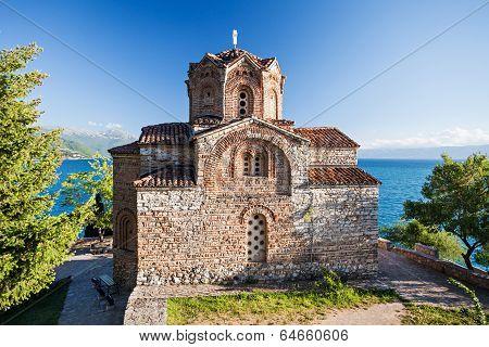 Church of St. John at Kaneo Ohrid Macedonia poster