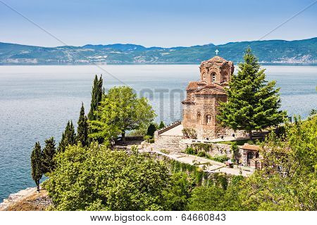 Saint John Monastery in old town Ohrid Macedonia poster