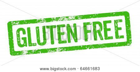 Green Stamp on a white background - Gluten free