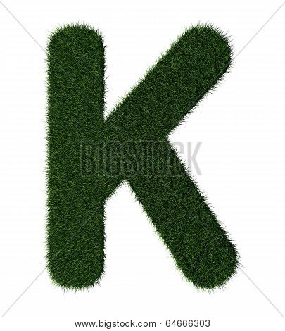 Grass alphabet-K