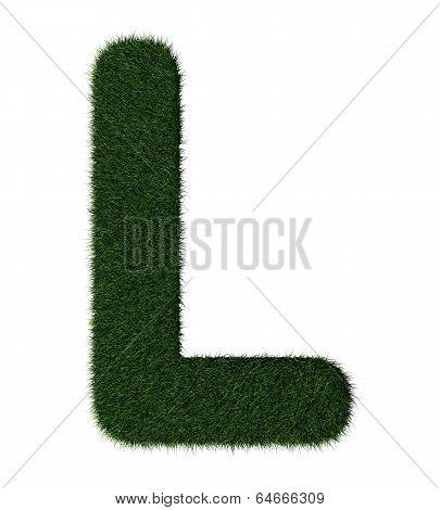 Grass alphabet-L