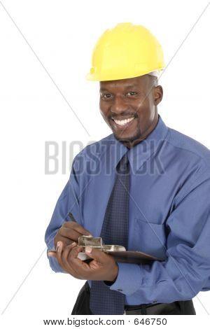 Glücklich lächelnd Architekt Ingenieur 1