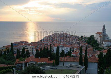 Old mediteran coastal city - Piran, Slovenia